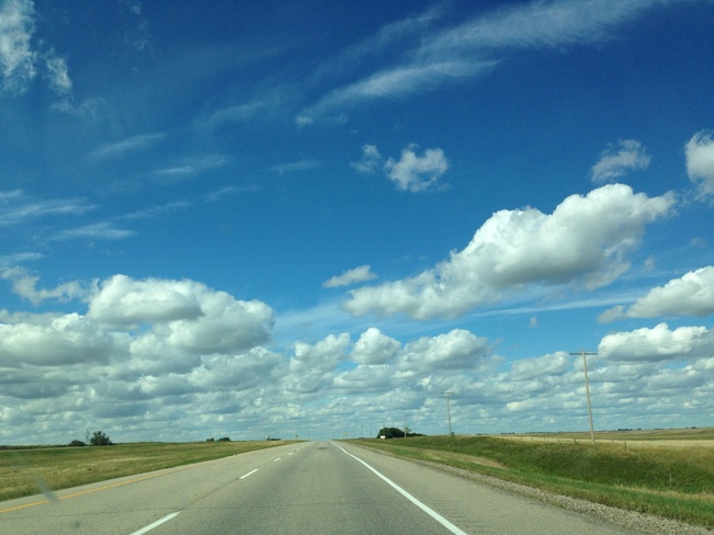 On the way to S'toon! Hanley, Saskatchewan Canada