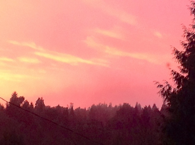 Red Sky Port Moody, British Columbia Canada