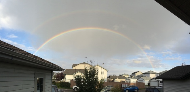 double bubble rainbow Airdrie, Alberta Canada