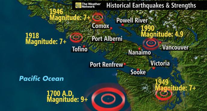 News maps explain vancouver island earthquake and show history of a must watch a decade of earthquakes gumiabroncs Images