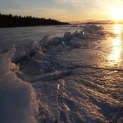 Last Walk on the Winter Ice of Lake Superior