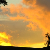 The roof is on fire...No not really!!!! Evening sunset...