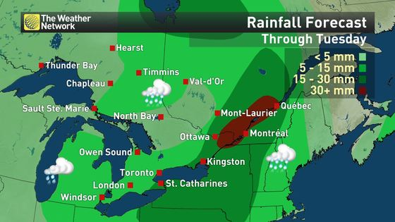 Quebec Weather Map on