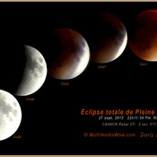Éclipse Total Pleine Lune sep. 2015 - Doris Dupuis, Ripon Qc - Full Moon Eclips