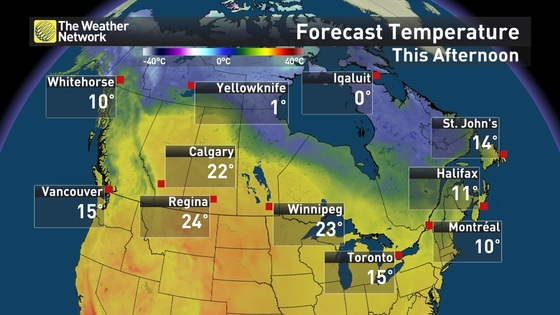Canada Weather Map Temperature.News Thanksgiving On The Patio For Some Canadians It S A Yes
