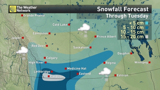High River Alberta Canada Map.News 20 Cm Of Snow To Fall On Alberta The Weather Network