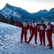 Santa Shreds at Mount Norquay!