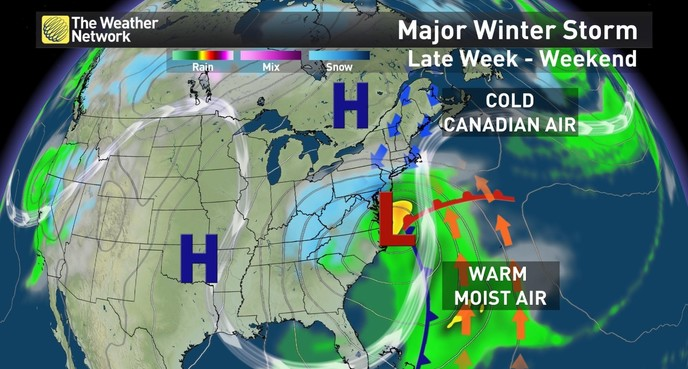 News US Storm Impacts Millions Will Canada Dodge The Bullet - Eastern us and canada map