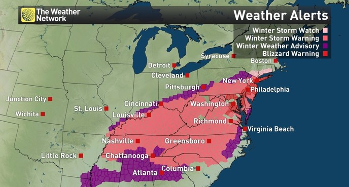News US Storm Impacts Millions Will Canada Dodge The Bullet - Saturday us weather map