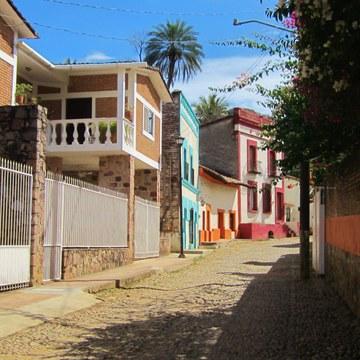 Cobblestone street