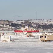 Cabane a pêche sur glace