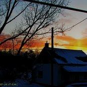 Fin de journée d'hiver