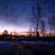 Crépuscule matinal.