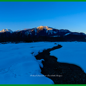 clear mountain sunrise Revelstoke BC