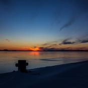 Coucher de soleil sur la baie de Sept-Iles