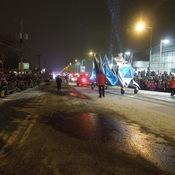 Bonhomme dans la neige a la parade du Carnaval