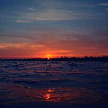 Sunrise of superbowl Sunday