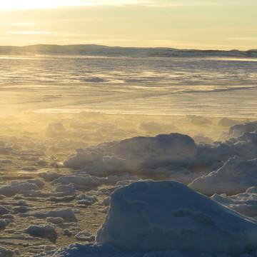 Vapor rising on a cold winter's morning