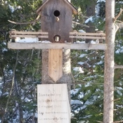 squirrel house? (bird house)