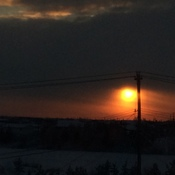 A Beautiful Sunset in Yellowknife