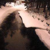 Le ruisseau Schryer au 8 février 2016
