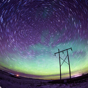 Star Trails with Aurora