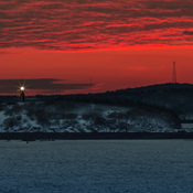 Sunset over Partidge Island Light