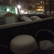 Patio Snow Storm 5am