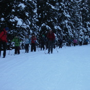 Xc skiing near Lake Louise
