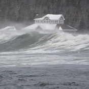 Waves Threatening Lockeport Crescent Beach Centre