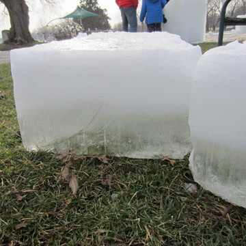 Harvesting Ice blocks from Lake Couchiching