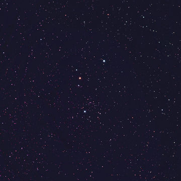This an double open cluster in the northern cross