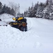 Feb 9th 2016 driveway plowing