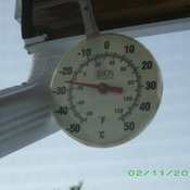 -26C on a clear morning at 8am.