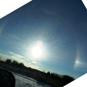 Rainbow around the sun this morning :)