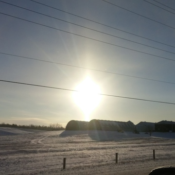 Cold crystal clear morning in Nobelton.
