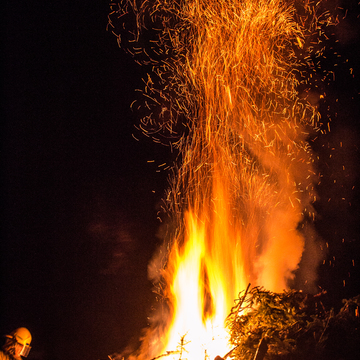 Winter Carnival bonfire