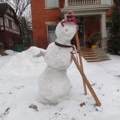 Distressed Snowman