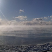 Eerie crispy and cold Lake Ontario