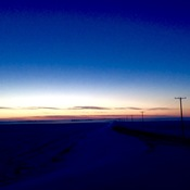 Saskatchewan Blue Sunset