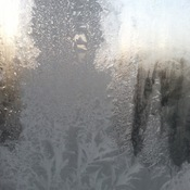 Extreme freezing view from window
