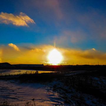 sunset sundog