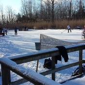 The bitter cold did not stop us from playing pond hockey