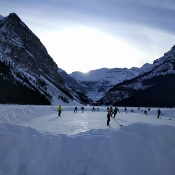Shinny on Lake Louise