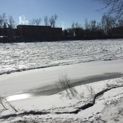 Ice Building on Otonabee River