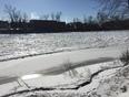 Ice Building on Otonabee River