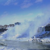 American Niagara Falls with Mist