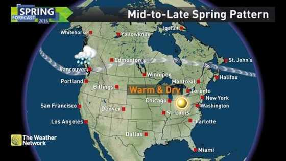 News Spring Forecast And A Sneak Peek At Summer Here The - Us jet stream forecast map