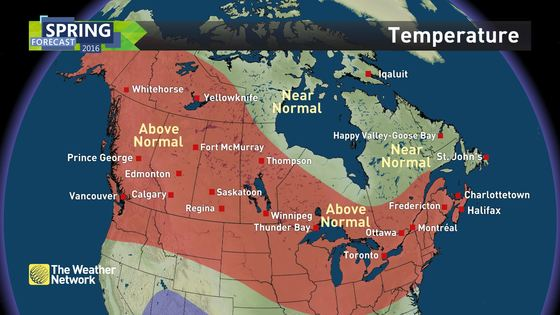 News Spring Forecast And A Sneak Peek At Summer Here The - Us temperature map march