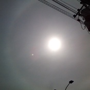 The Cloudy Sun With a Halo